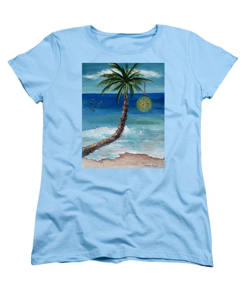 Women's T-Shirt (Standard Cut) featuring the painting Christmas 2008 by Jamie Frier