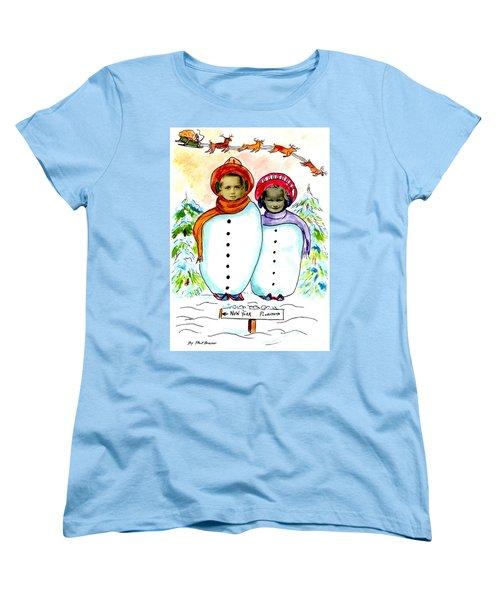 Happy Holidays Women's T-Shirt (Standard Cut) by Philip Bracco
