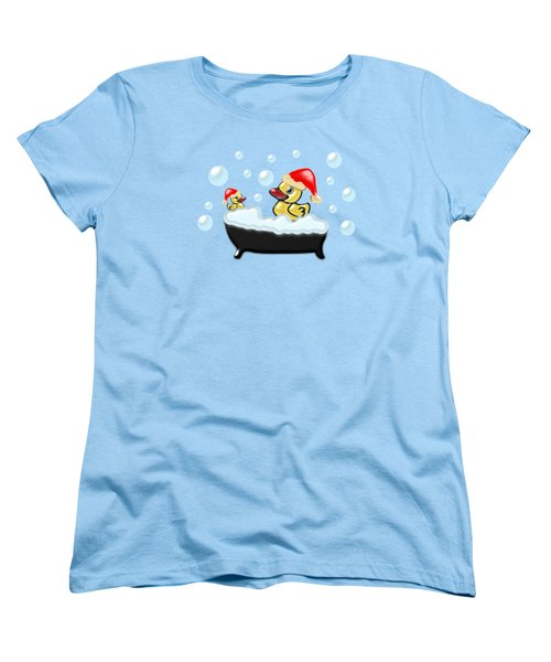Christmas Ducks Women's T-Shirt (Standard Cut) by Anastasiya Malakhova