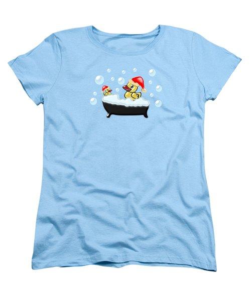 Christmas Ducks Women's T-Shirt (Standard Cut)