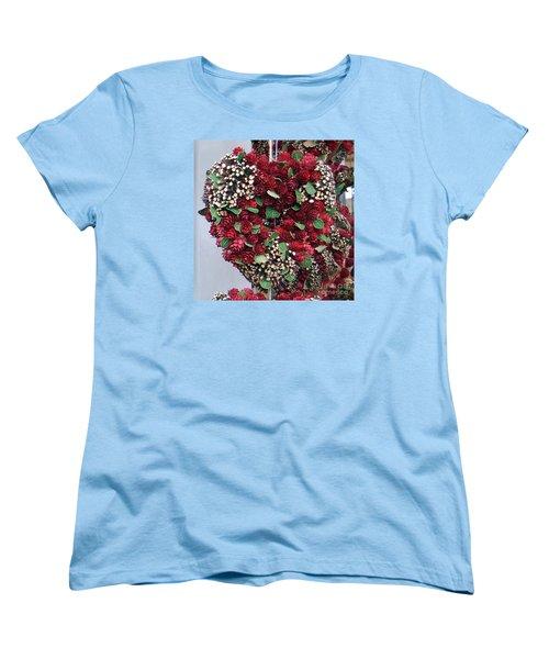 Christmas Heart Women's T-Shirt (Standard Cut) by Linda Prewer
