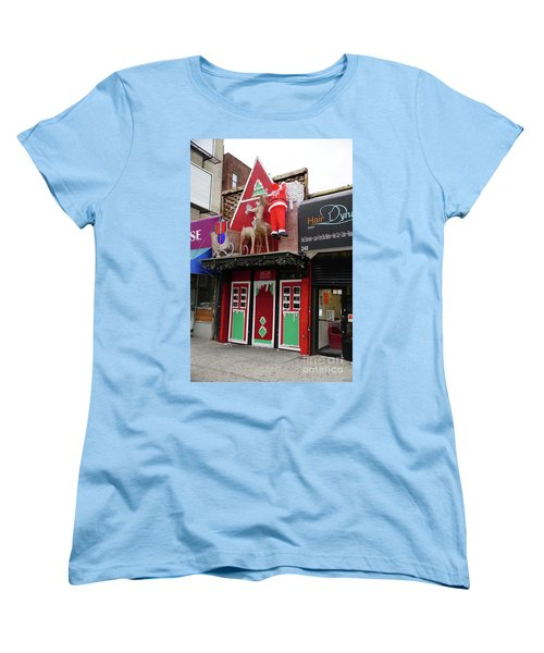 Women's T-Shirt (Standard Cut) featuring the photograph Christmas On Sherman Avenue  by Cole Thompson
