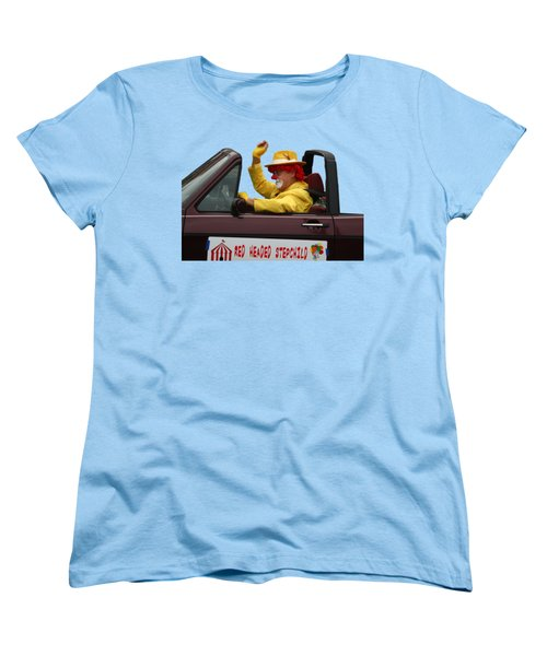 Christmas Parade Clown In Car Women's T-Shirt (Standard Cut) by EricaMaxine Price