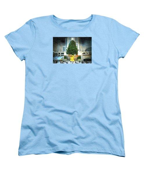 Christmas Tree 2015 Women's T-Shirt (Standard Cut) by Diana Angstadt