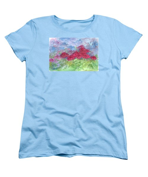 Women's T-Shirt (Standard Cut) featuring the painting Chrysanthemums by Cathie Richardson