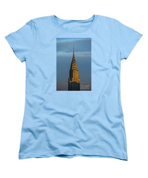 Chrysler Building In The Evening Light Women's T-Shirt (Standard Cut) by Diane Diederich