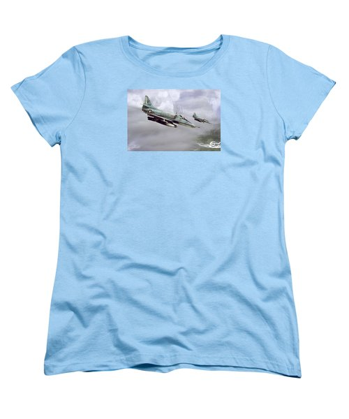 Chu Lai Skyhawks Women's T-Shirt (Standard Cut) by Peter Chilelli