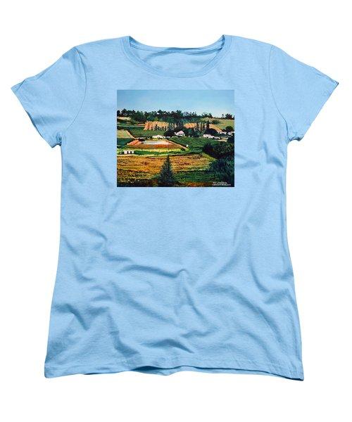 Chubby's Farm Women's T-Shirt (Standard Cut) by Tim Johnson