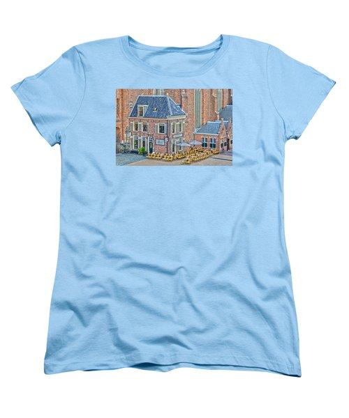 Church Cafe In Groningen Women's T-Shirt (Standard Cut) by Frans Blok