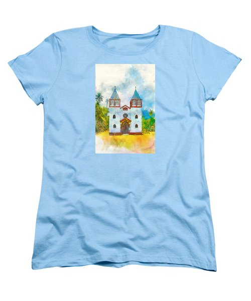 Church Of The Holy Family Women's T-Shirt (Standard Cut) by Greg Collins