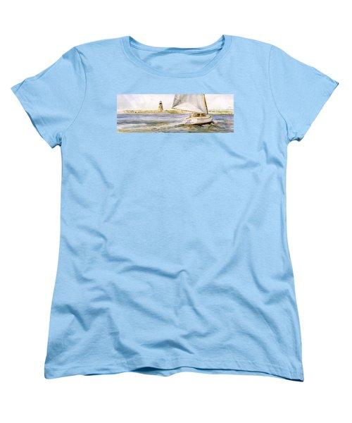 Cimba At Bird Island Light Women's T-Shirt (Standard Cut) by P Anthony Visco