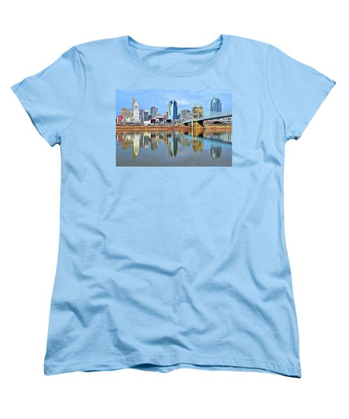 Cincinnati Ohio Times Two Women's T-Shirt (Standard Cut)