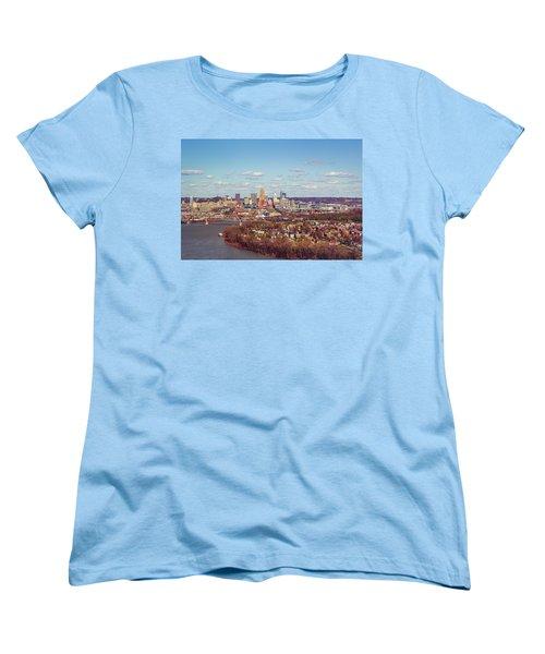 Cincinnati Skyline 2 Women's T-Shirt (Standard Cut) by Scott Meyer