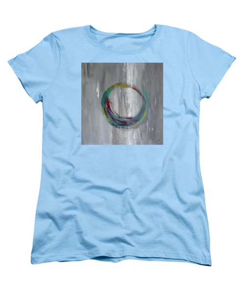 Women's T-Shirt (Standard Cut) featuring the painting Vortex by Victoria Lakes