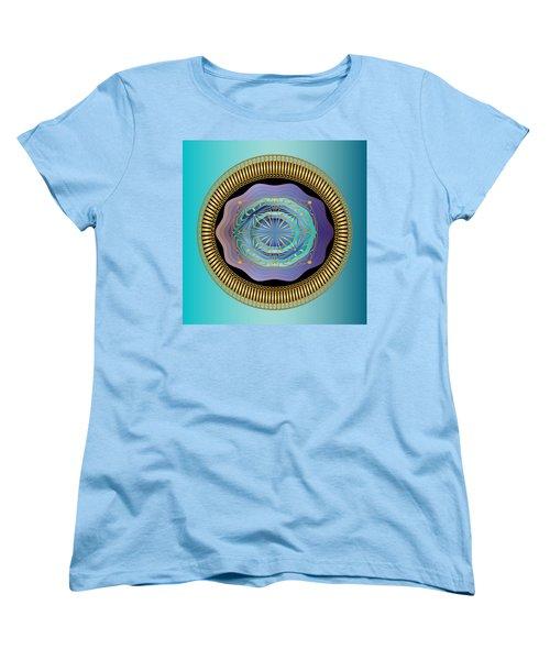 Women's T-Shirt (Standard Cut) featuring the digital art Circularium No 2663 by Alan Bennington