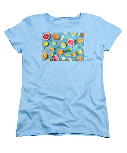 Citrus Summer Women's T-Shirt (Standard Cut) by Anastasy Yarmolovich
