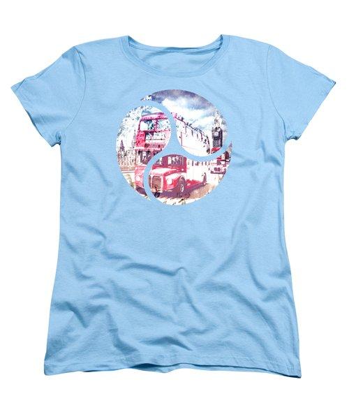 City-art London Red Buses On Westminster Bridge Women's T-Shirt (Standard Cut)