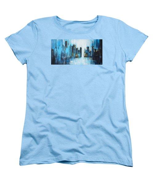 City Blues Women's T-Shirt (Standard Cut) by Theresa Marie Johnson