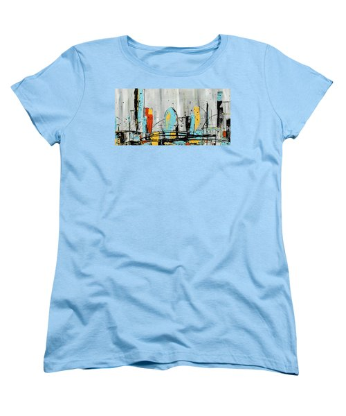 Women's T-Shirt (Standard Cut) featuring the painting City Limits by Carmen Guedez