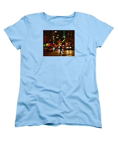 City Nights, City Lights Women's T-Shirt (Standard Cut) by Jeffrey Friedkin