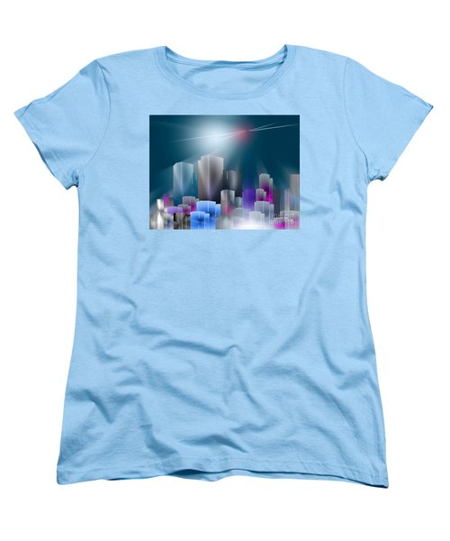 City Of Light Women's T-Shirt (Standard Cut) by John Krakora