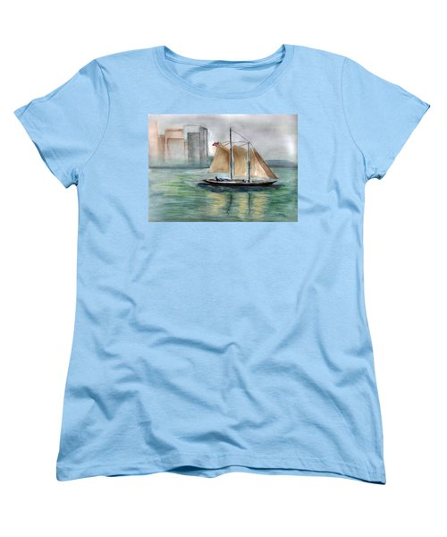City Sail Women's T-Shirt (Standard Cut) by Clara Sue Beym