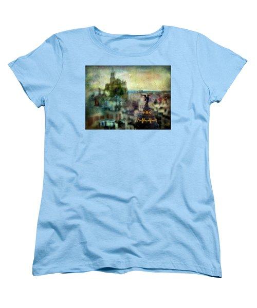Cityscape 38 - Homeless Angels Women's T-Shirt (Standard Cut) by Alfredo Gonzalez