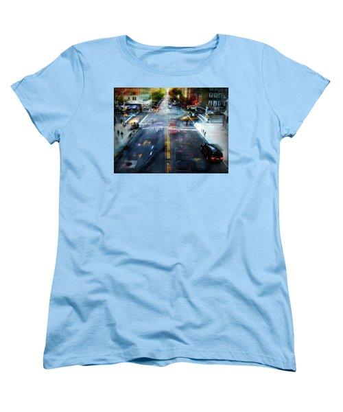 Women's T-Shirt (Standard Cut) featuring the photograph Cityscape 39 - Crossroads by Alfredo Gonzalez