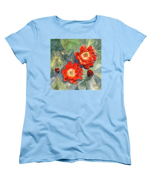 Claret Cup Cactus Women's T-Shirt (Standard Cut) by Marilyn Smith