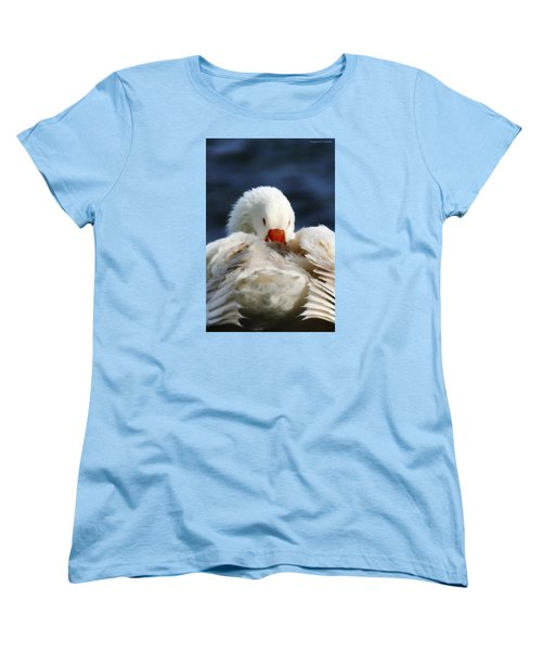 Women's T-Shirt (Standard Cut) featuring the photograph Clean Up Time 001 by Kevin Chippindall