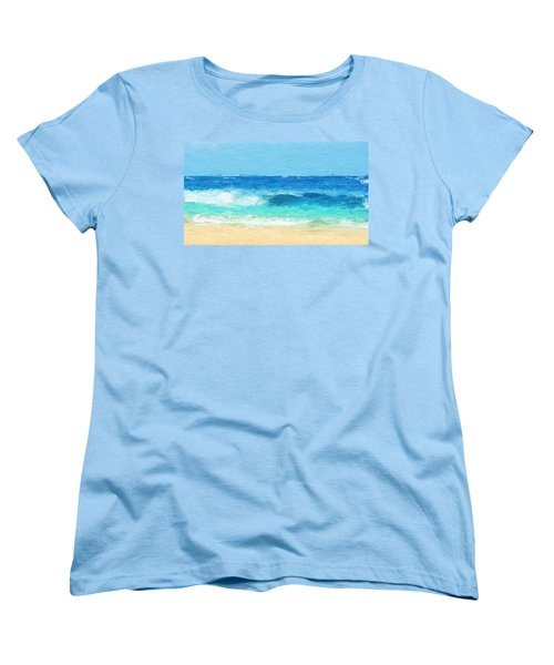 Clear Blue Waves Women's T-Shirt (Standard Cut) by Anthony Fishburne
