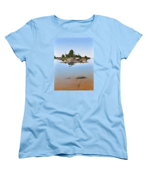 Women's T-Shirt (Standard Cut) featuring the painting Clear Contentment by Kenneth M Kirsch