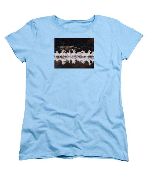 Clear Lake Pelicans Women's T-Shirt (Standard Cut) by Linda Becker