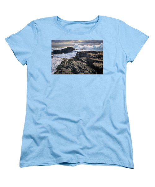 Women's T-Shirt (Standard Cut) featuring the photograph Clearing Storm At Bald Head Cliff by Rick Berk