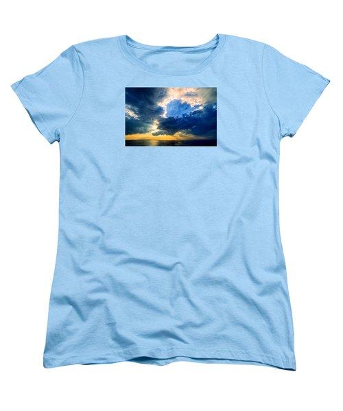 Clearing Storm Halibut Pt. Women's T-Shirt (Standard Cut) by Michael Hubley