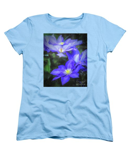 Women's T-Shirt (Standard Cut) featuring the photograph Clematis by Linda Blair