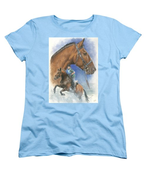 Women's T-Shirt (Standard Cut) featuring the painting Cleveland Bay by Barbara Keith