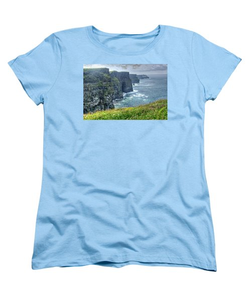 Cliffs Of Moher Women's T-Shirt (Standard Cut) by Alan Toepfer