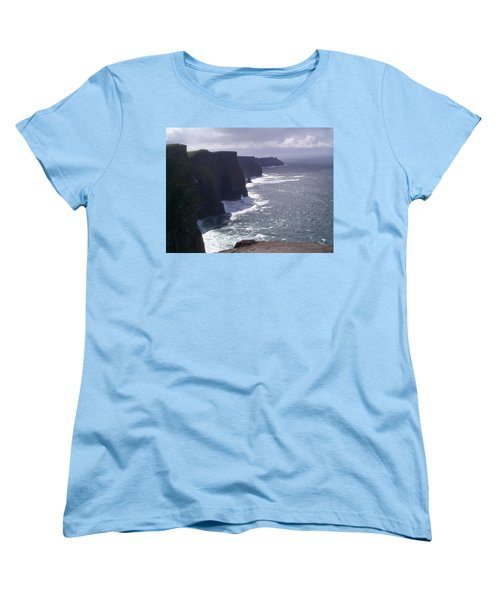 Women's T-Shirt (Standard Cut) featuring the photograph Cliffs Of Moher by Charles Kraus