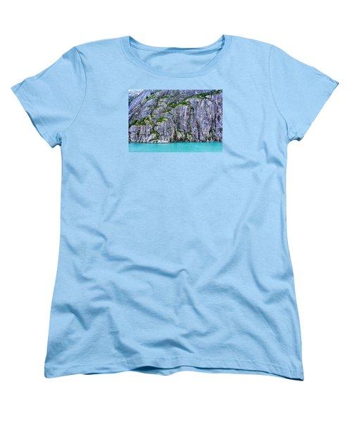Women's T-Shirt (Standard Cut) featuring the photograph Cliffs Of The Inside Passage by Lewis Mann