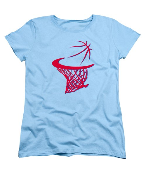 Clippers Basketball Hoop Women's T-Shirt (Standard Cut) by Joe Hamilton