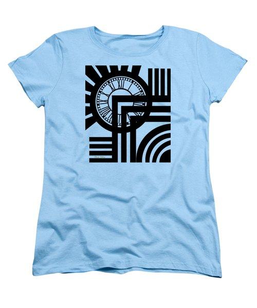 Clock Design Vertical Women's T-Shirt (Standard Cut) by Chuck Staley