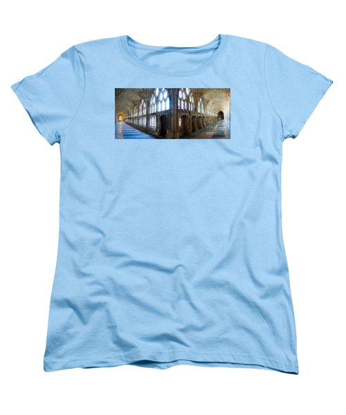 Women's T-Shirt (Standard Cut) featuring the photograph Cloisters, Gloucester Cathedral by Colin Rayner
