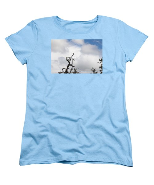 Women's T-Shirt (Standard Cut) featuring the photograph Close Call by Marie Neder