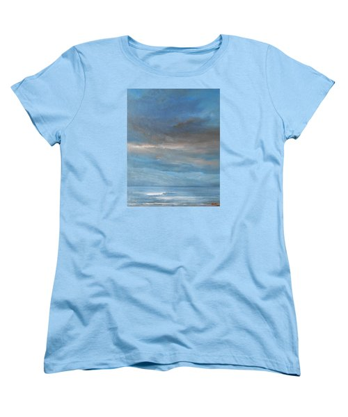 Women's T-Shirt (Standard Cut) featuring the painting Close Of Day by Jane See