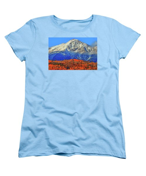 Women's T-Shirt (Standard Cut) featuring the photograph Closing In On Fall by Scott Mahon