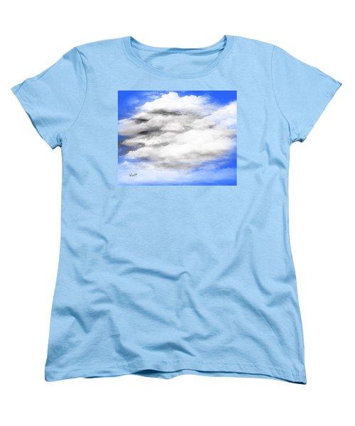 Women's T-Shirt (Standard Cut) featuring the digital art Clouds 2 by Walter Chamberlain