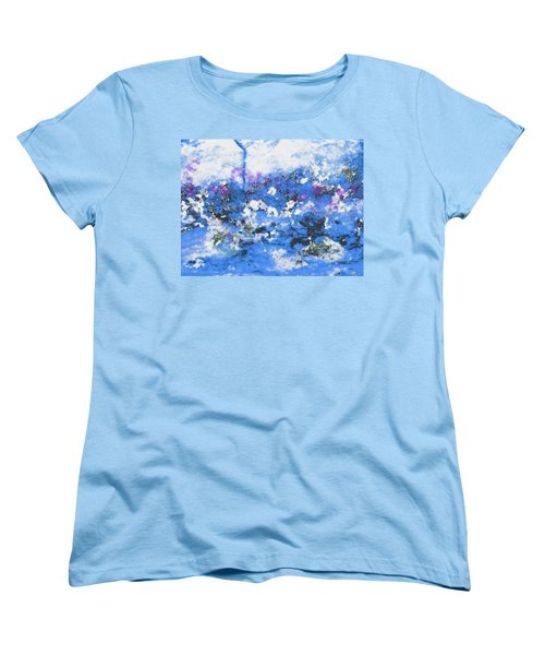 Clouds And Blossom Women's T-Shirt (Standard Cut) by Stephanie Grant