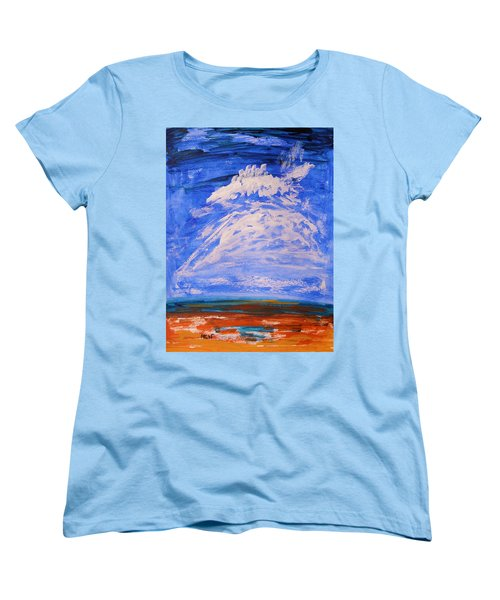 Women's T-Shirt (Standard Cut) featuring the painting Clouds Dance by Mary Carol Williams