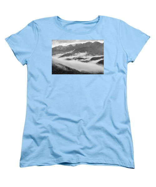 Women's T-Shirt (Standard Cut) featuring the photograph Clouds In Valley, Sa Pa, 2014 by Hitendra SINKAR